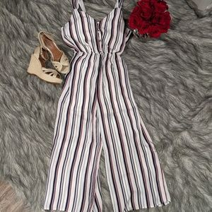 Sienna Sky red/navy/white striped jumpsuit